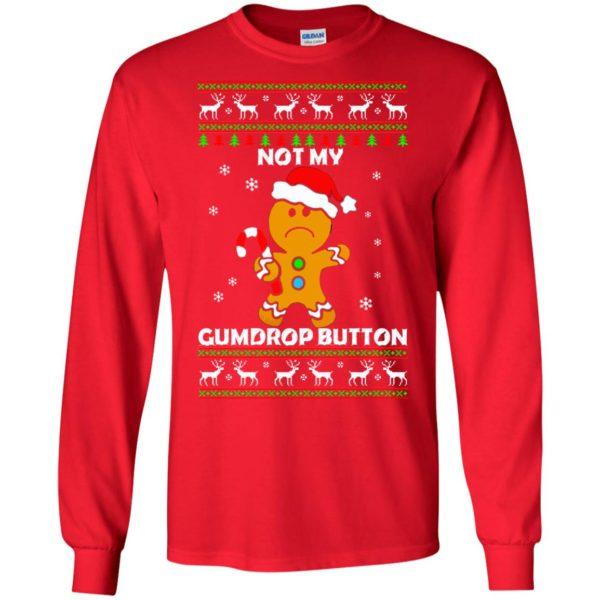 image 1318 600x600 - Not My Gumdrop Button Gingerbread Christmas Sweater, Shirt