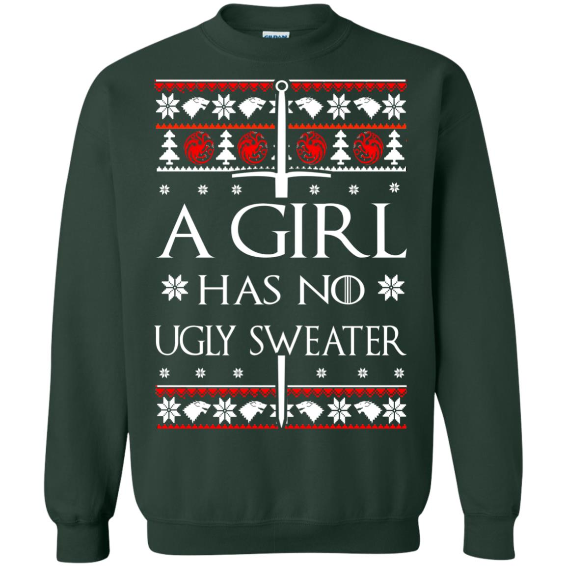image 1508 - A Girl Has no Ugly Sweater, Shirt, Christmas Sweatshirt Game Of Thrones