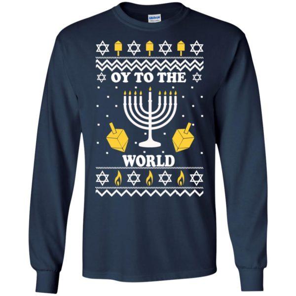 image 1512 600x600 - Oy To The World Hanukkah Christmas Sweatshirt, Long Sleeve