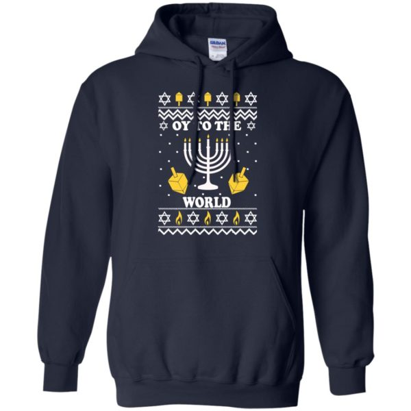 image 1515 600x600 - Oy To The World Hanukkah Christmas Sweatshirt, Long Sleeve