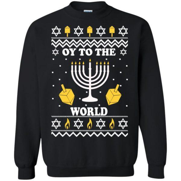 image 1517 600x600 - Oy To The World Hanukkah Christmas Sweatshirt, Long Sleeve