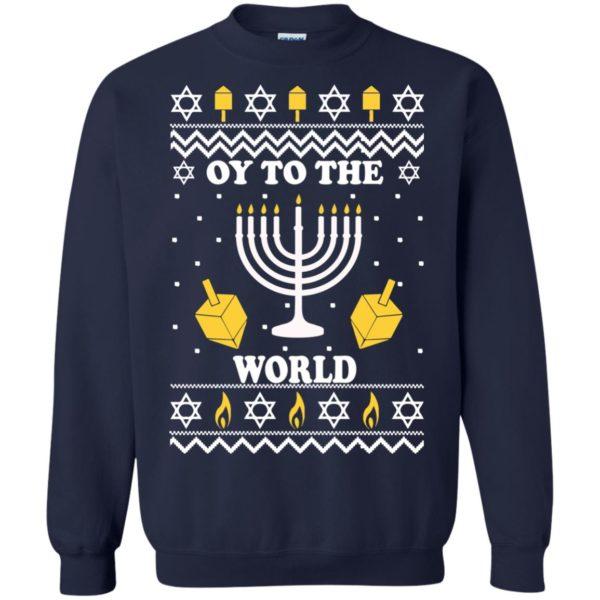 image 1518 600x600 - Oy To The World Hanukkah Christmas Sweatshirt, Long Sleeve
