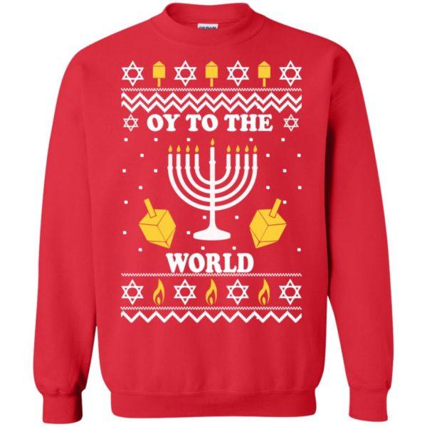 image 1519 600x600 - Oy To The World Hanukkah Christmas Sweatshirt, Long Sleeve