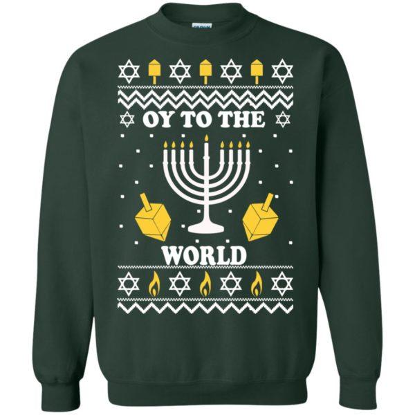 image 1520 600x600 - Oy To The World Hanukkah Christmas Sweatshirt, Long Sleeve