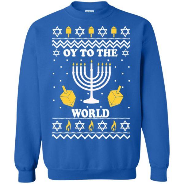 image 1521 600x600 - Oy To The World Hanukkah Christmas Sweatshirt, Long Sleeve