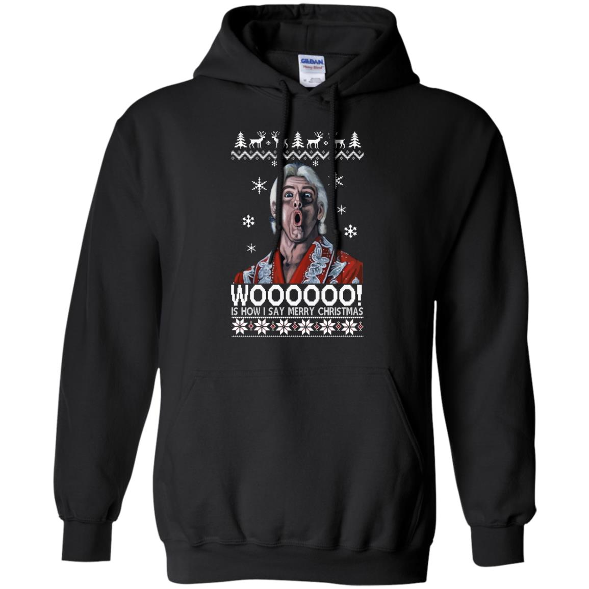 image 1639 - Green Ric Flair WOO Christmas Sweater, Ugly Sweatshirt