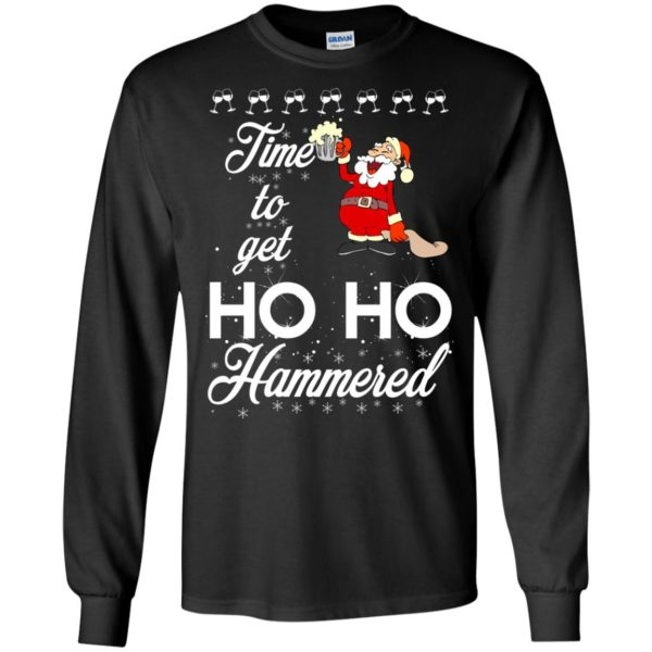 image 1648 600x600 - Time To Get Ho Ho Hammered Christmas Sweater, Shirt