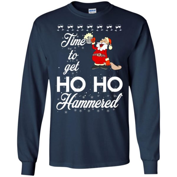 image 1649 600x600 - Time To Get Ho Ho Hammered Christmas Sweater, Shirt
