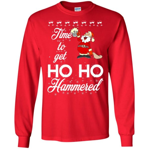 image 1650 600x600 - Time To Get Ho Ho Hammered Christmas Sweater, Shirt