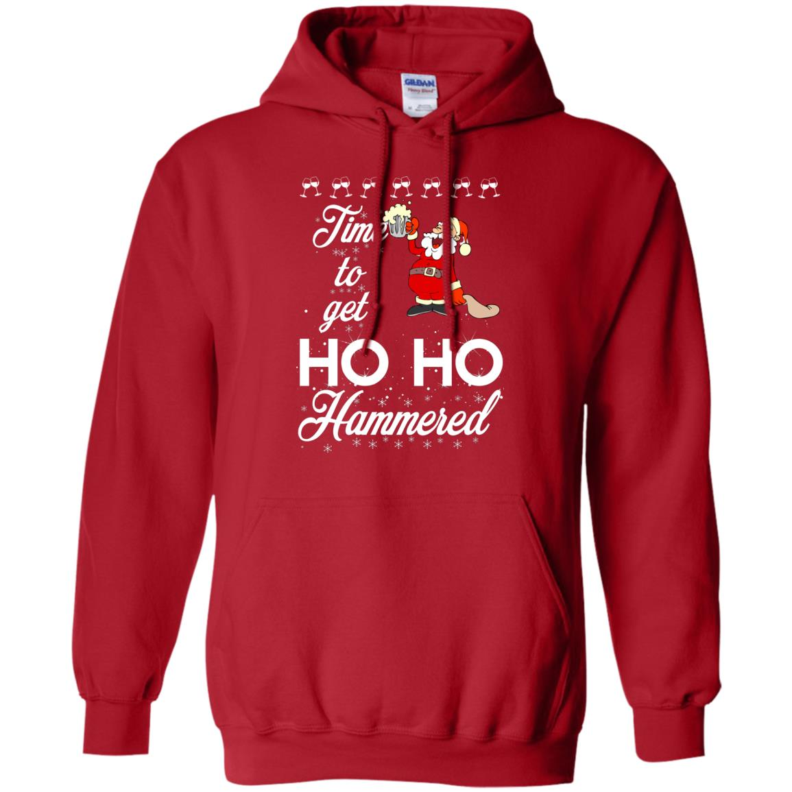 image 1653 - Time To Get Ho Ho Hammered Christmas Sweater, Shirt