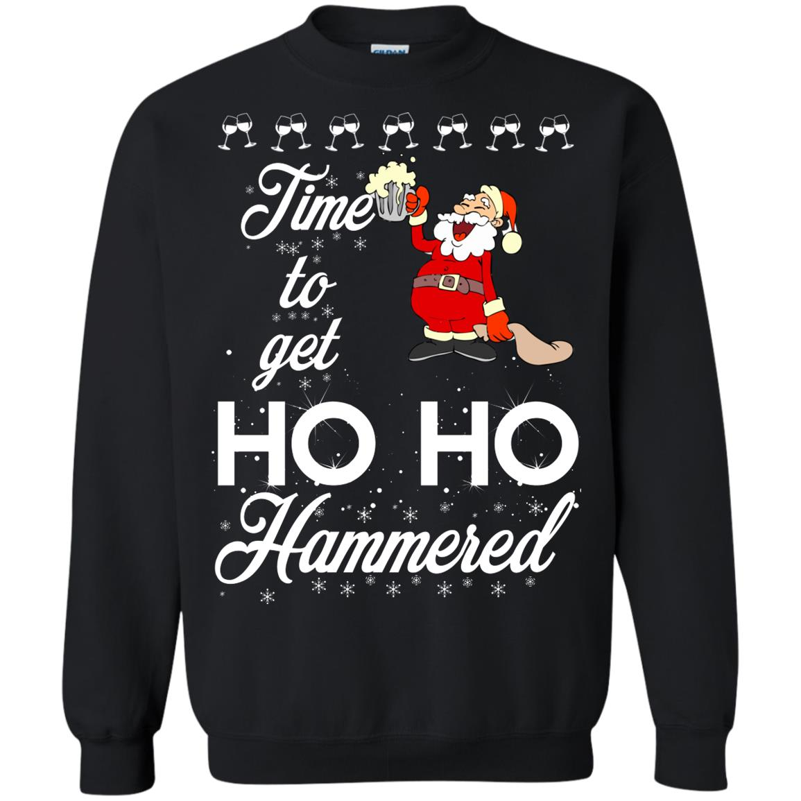 image 1654 - Time To Get Ho Ho Hammered Christmas Sweater, Shirt