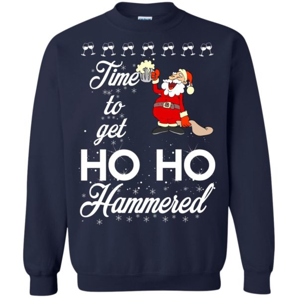 image 1655 600x600 - Time To Get Ho Ho Hammered Christmas Sweater, Shirt