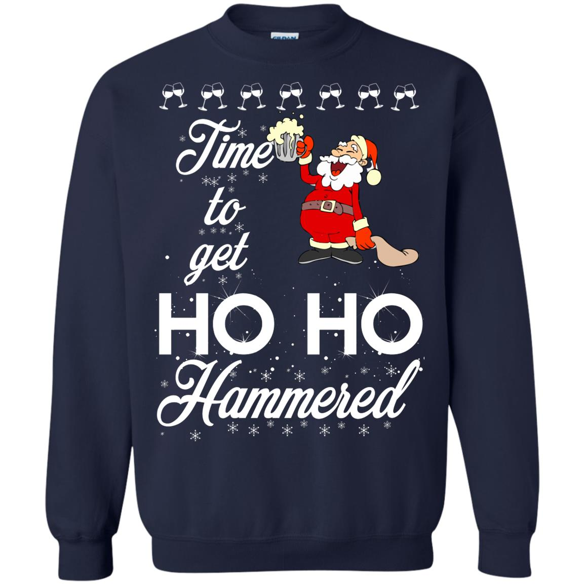 image 1655 - Time To Get Ho Ho Hammered Christmas Sweater, Shirt