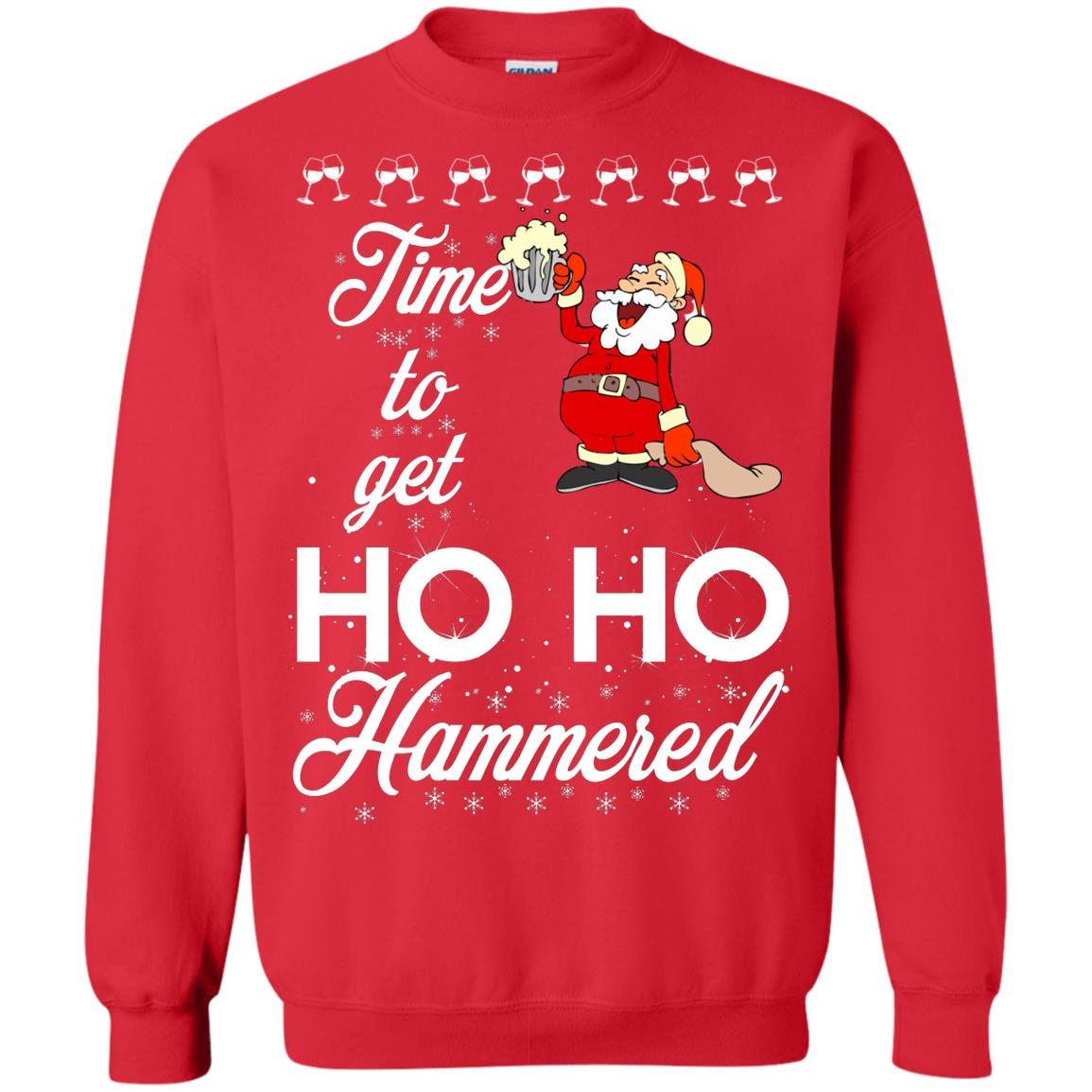 image 1656 - Time To Get Ho Ho Hammered Christmas Sweater, Shirt