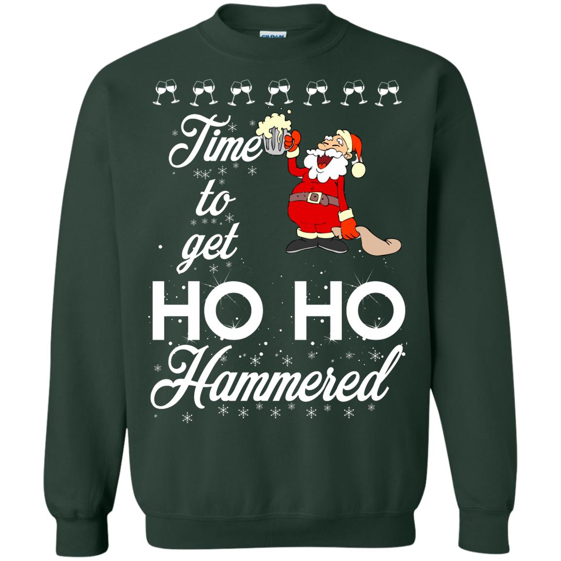 image 1657 - Time To Get Ho Ho Hammered Christmas Sweater, Shirt