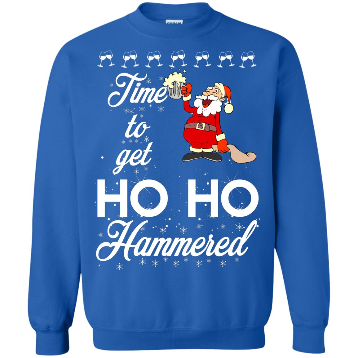 image 1658 - Time To Get Ho Ho Hammered Christmas Sweater, Shirt
