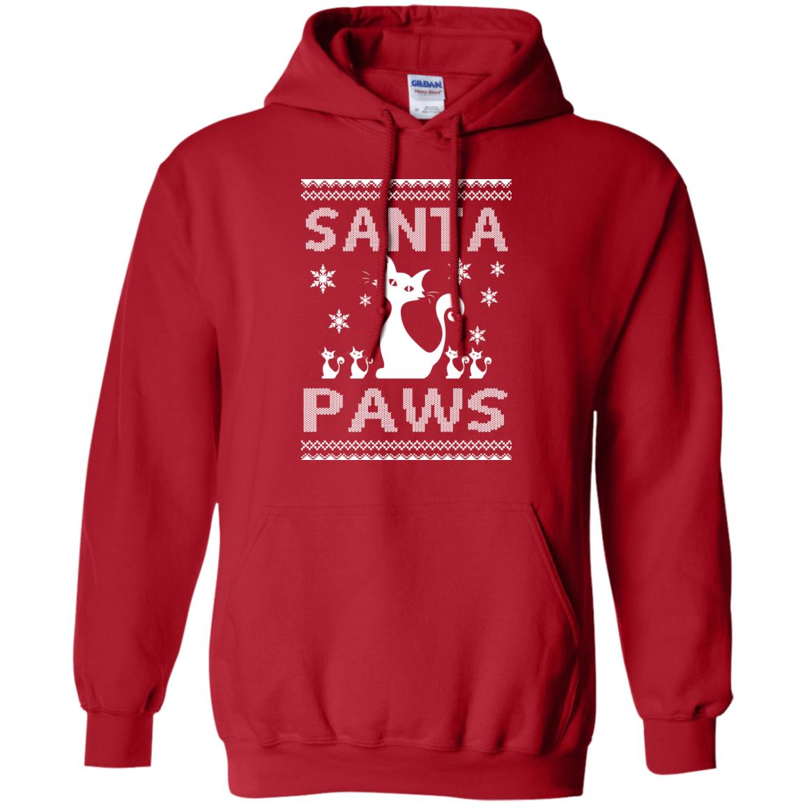 image 1677 - Santa Paws Cat Kitten Ugly Sweater, Christmas Sweatshirt