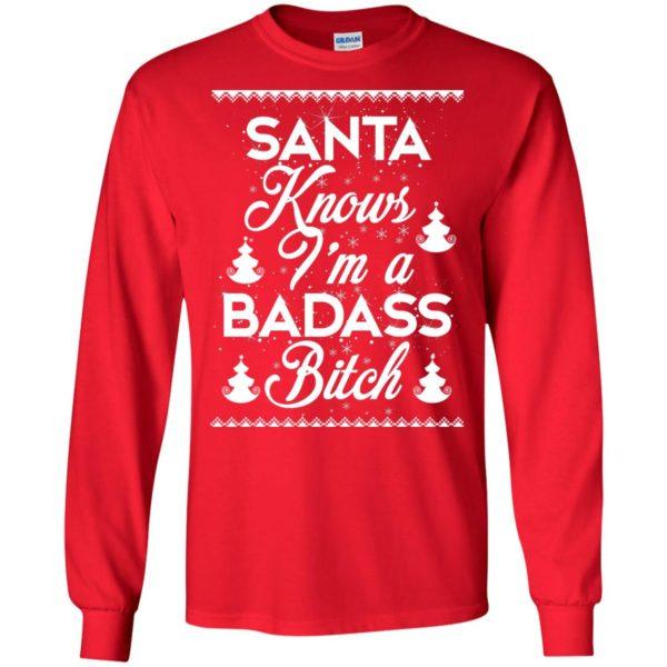 image 1686 600x600 - Santa Know I'm Badass Bitch Christmas Sweater, Shirt, Hoodie