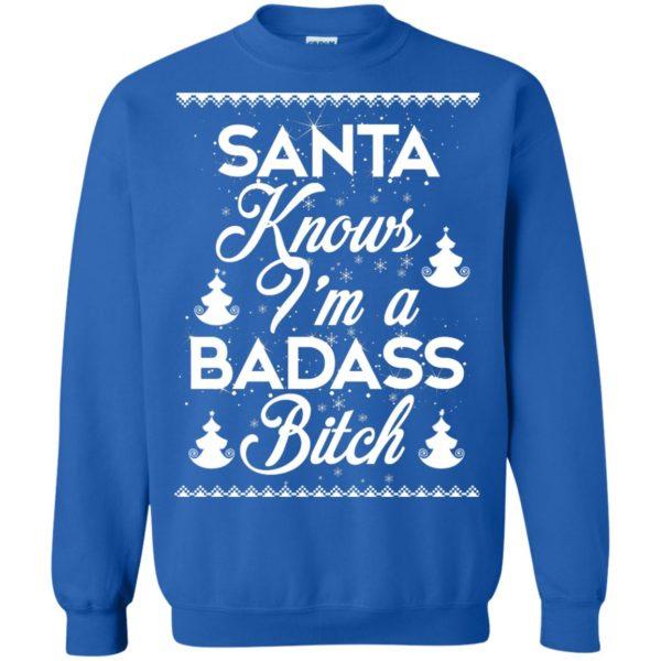 image 1694 600x600 - Santa Know I'm Badass Bitch Christmas Sweater, Shirt, Hoodie