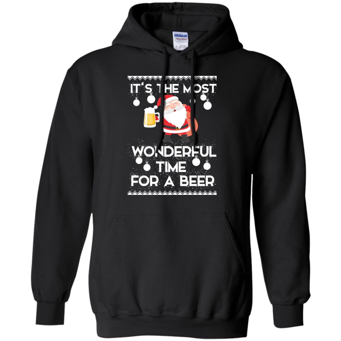 image 1699 - Santa It's The Most Wonderful Time For A Beer Christmas Sweatshirt