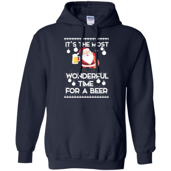 image 1700 600x600 - Santa It's The Most Wonderful Time For A Beer Christmas Sweatshirt