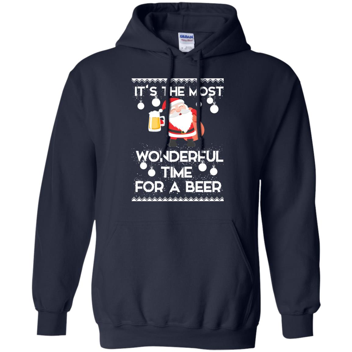 image 1700 - Santa It's The Most Wonderful Time For A Beer Christmas Sweatshirt