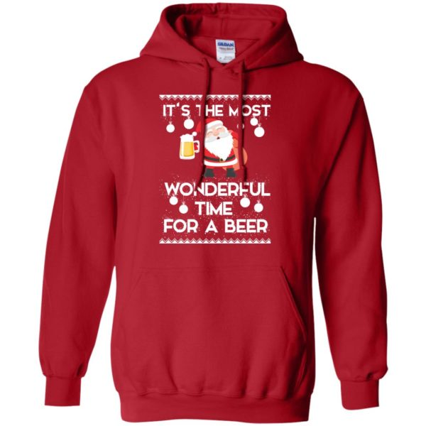 image 1701 600x600 - Santa It's The Most Wonderful Time For A Beer Christmas Sweatshirt