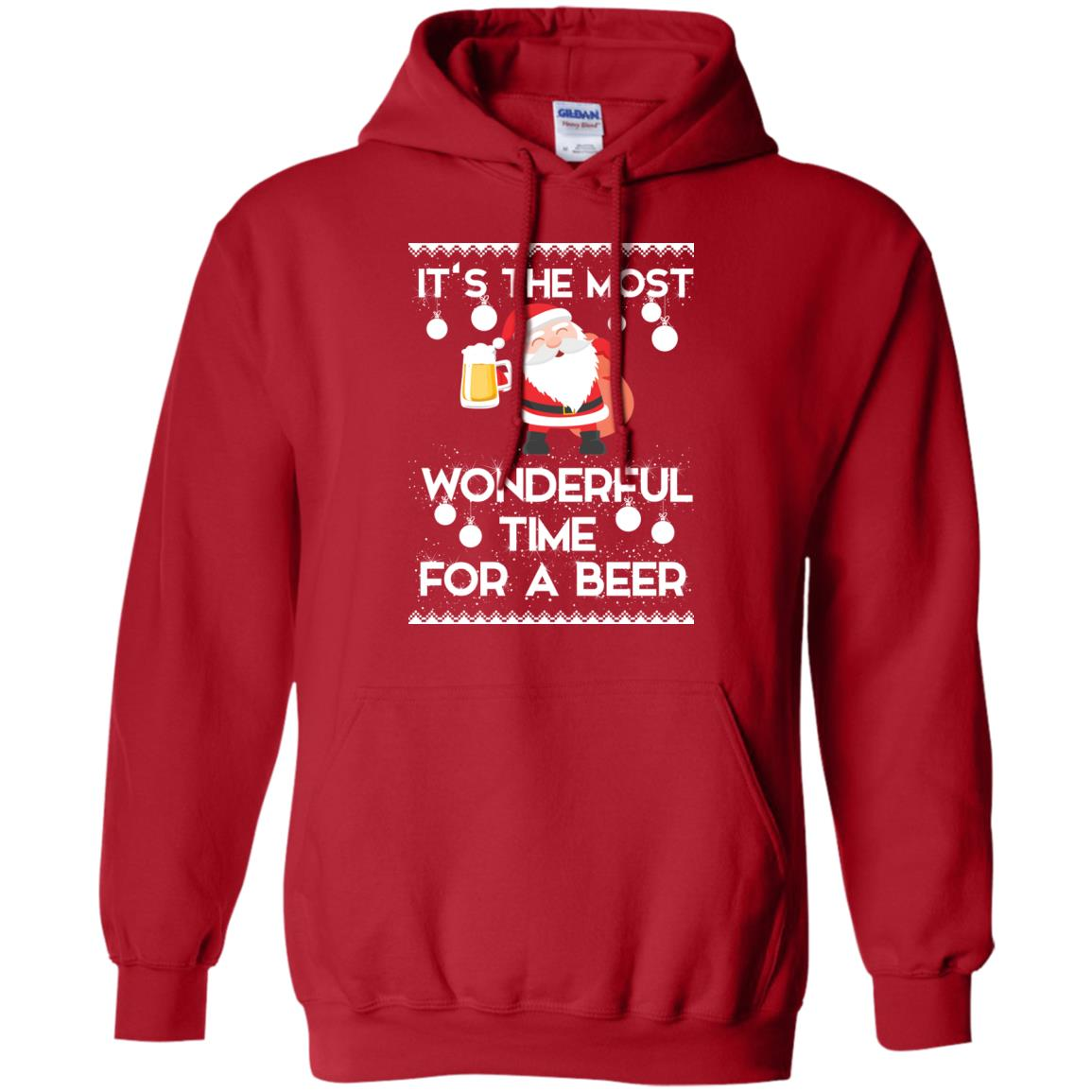 image 1701 - Santa It's The Most Wonderful Time For A Beer Christmas Sweatshirt