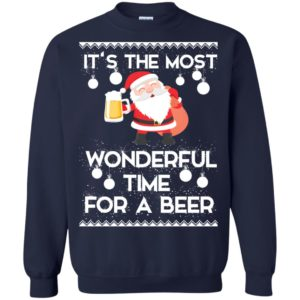 image 1703 300x300 - Santa It's The Most Wonderful Time For A Beer Christmas Sweatshirt