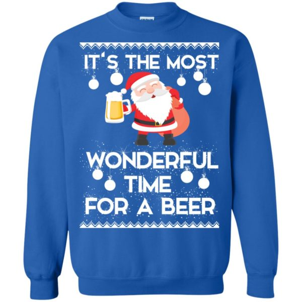 image 1706 600x600 - Santa It's The Most Wonderful Time For A Beer Christmas Sweatshirt
