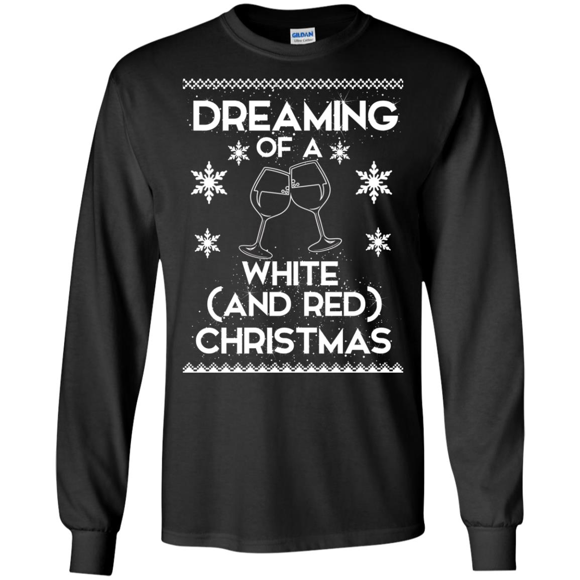 image 1756 - Dreaming of a White and Red Christmas Sweatshirt, Hoodie