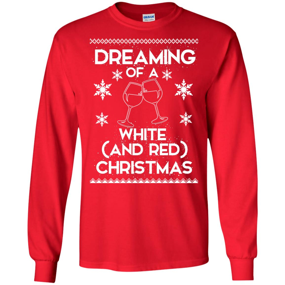 image 1757 - Dreaming of a White and Red Christmas Sweatshirt, Hoodie