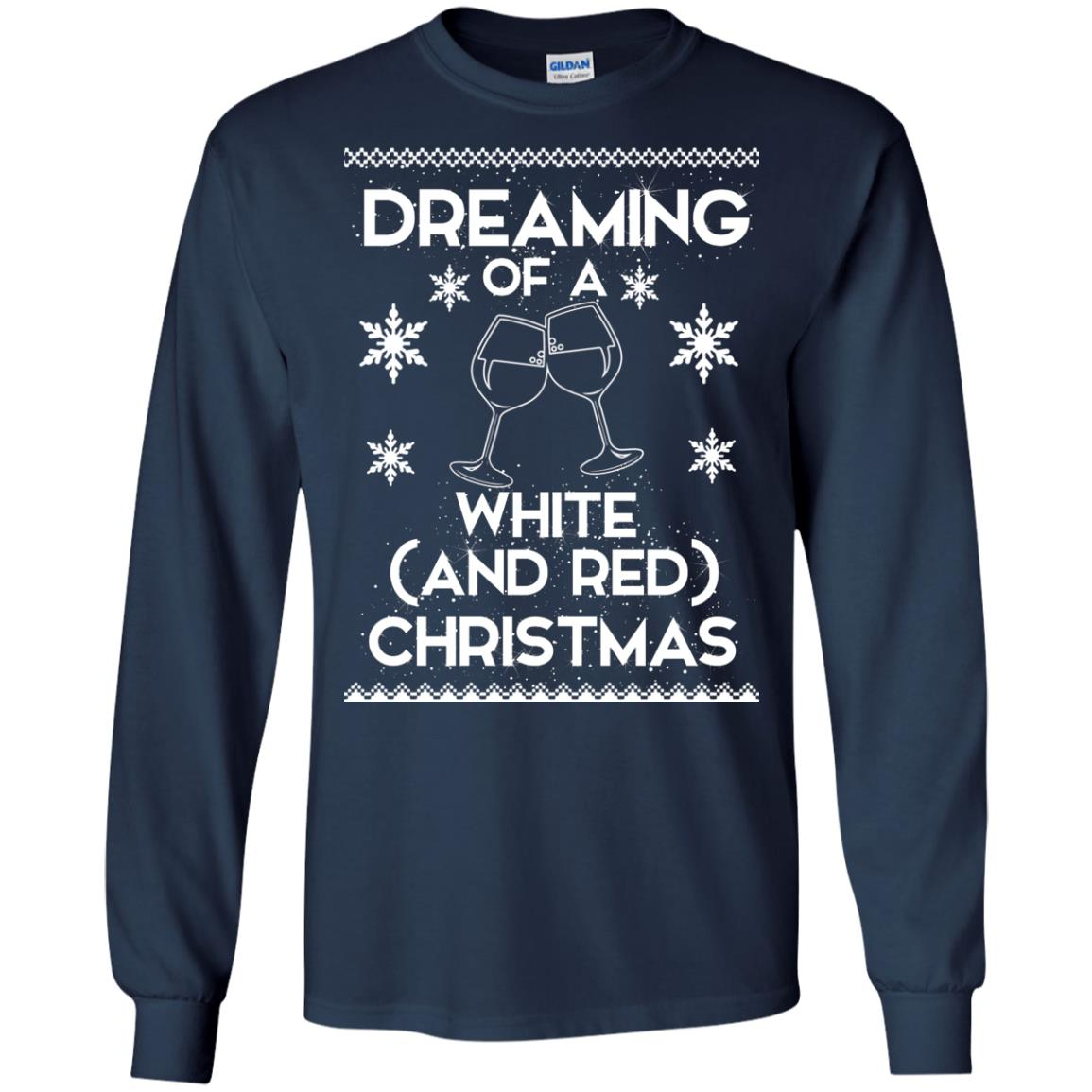 image 1758 - Dreaming of a White and Red Christmas Sweatshirt, Hoodie