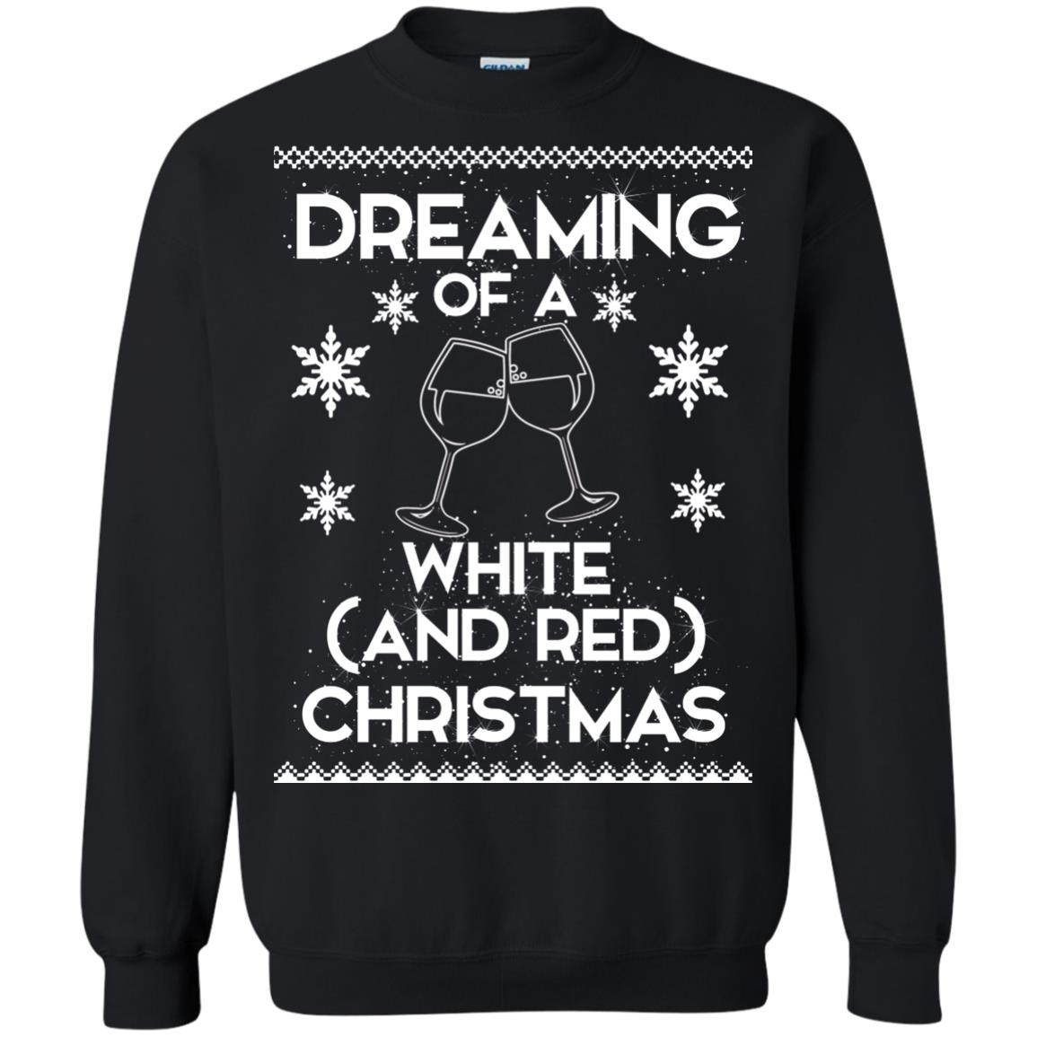 image 1762 - Dreaming of a White and Red Christmas Sweatshirt, Hoodie