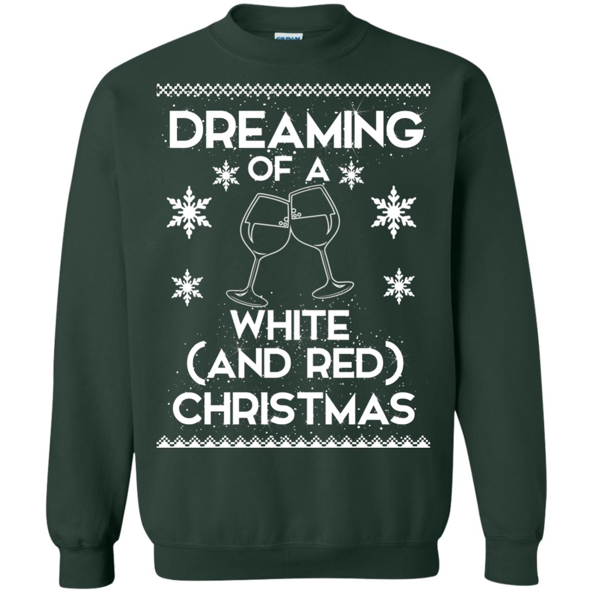 image 1765 - Dreaming of a White and Red Christmas Sweatshirt, Hoodie