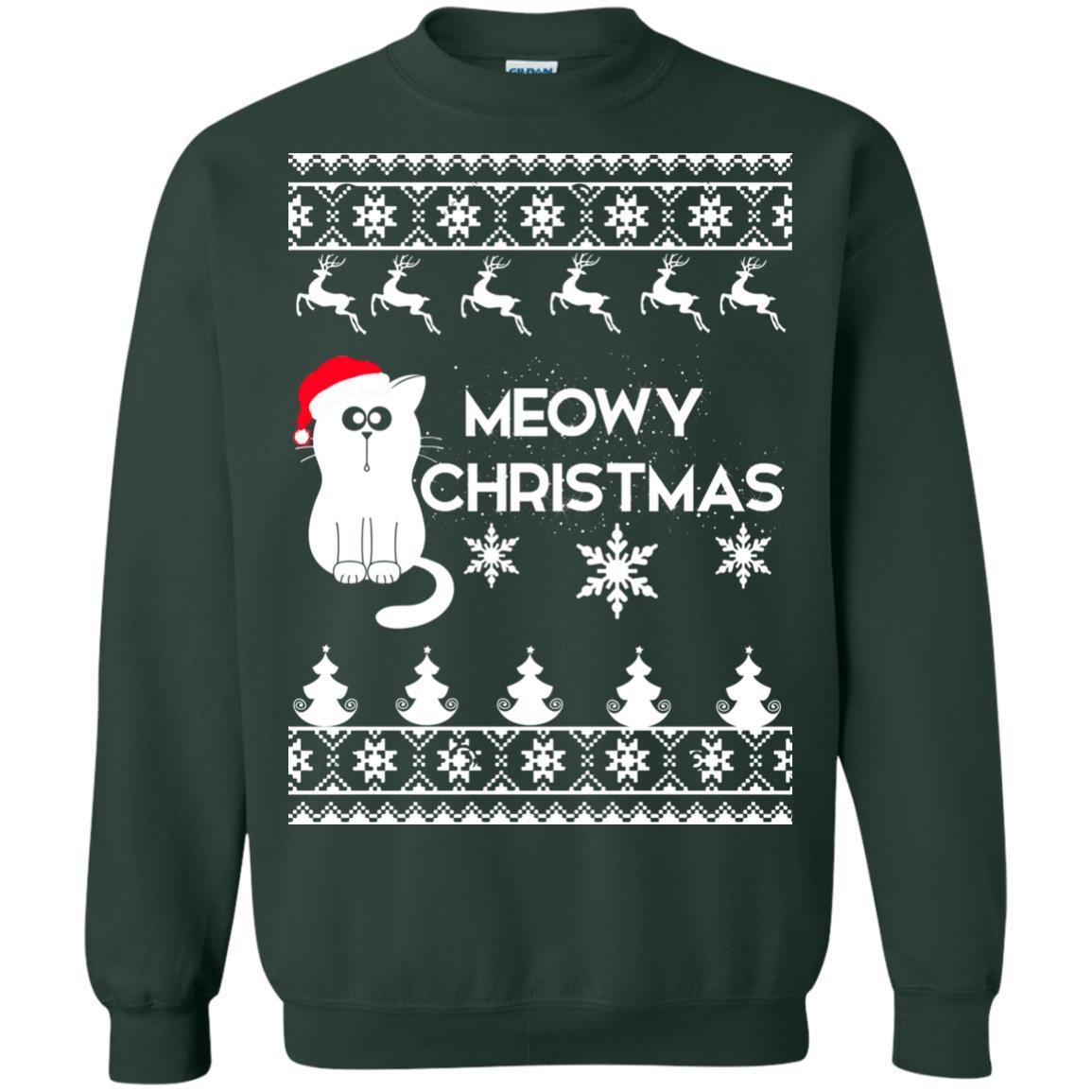 image 1777 - Meowy Christmas Sweater, Ugly Meowy Sweatshirts