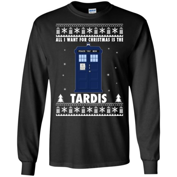 image 1914 600x600 - All I Want For Christmas Is The Tardis Ugly Sweater, Hoodie