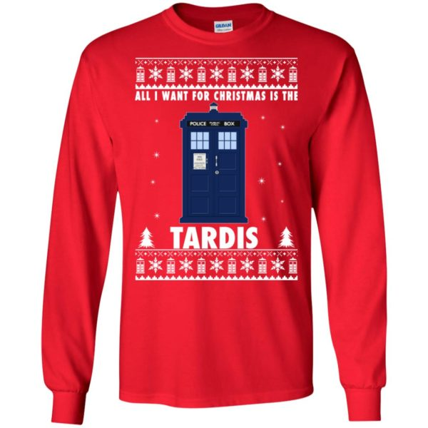 image 1915 600x600 - All I Want For Christmas Is The Tardis Ugly Sweater, Hoodie