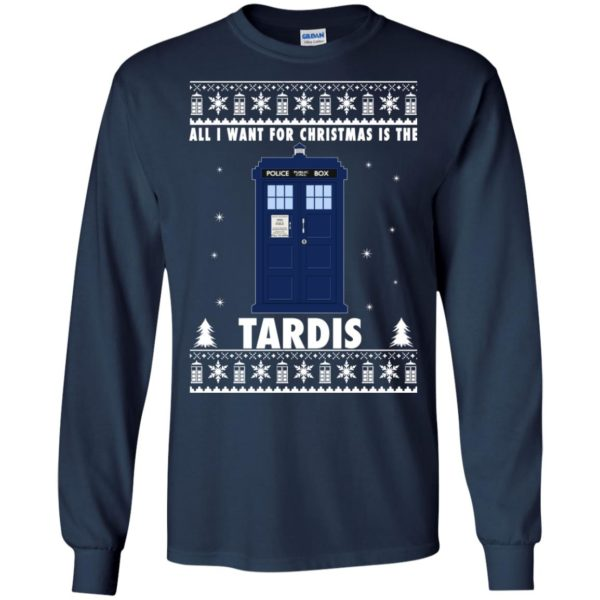 image 1916 600x600 - All I Want For Christmas Is The Tardis Ugly Sweater, Hoodie