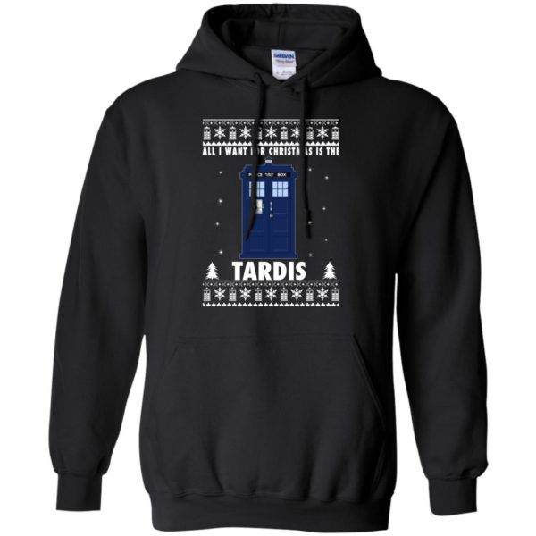 image 1917 600x600 - All I Want For Christmas Is The Tardis Ugly Sweater, Hoodie