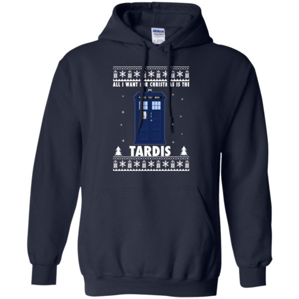 image 1918 600x600 - All I Want For Christmas Is The Tardis Ugly Sweater, Hoodie