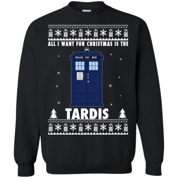 image 1920 600x600 - All I Want For Christmas Is The Tardis Ugly Sweater, Hoodie