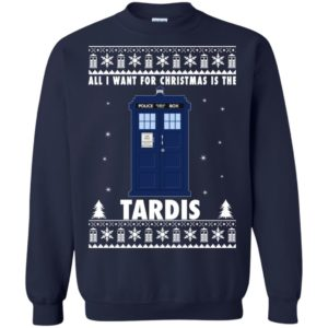 image 1921 300x300 - All I Want For Christmas Is The Tardis Ugly Sweater, Hoodie