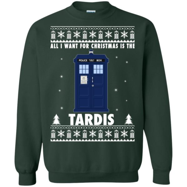 image 1923 600x600 - All I Want For Christmas Is The Tardis Ugly Sweater, Hoodie