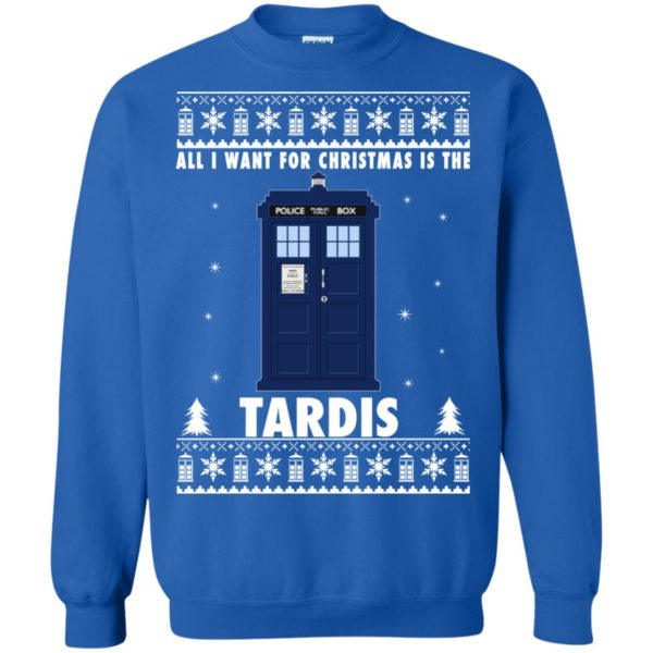 image 1924 600x600 - All I Want For Christmas Is The Tardis Ugly Sweater, Hoodie