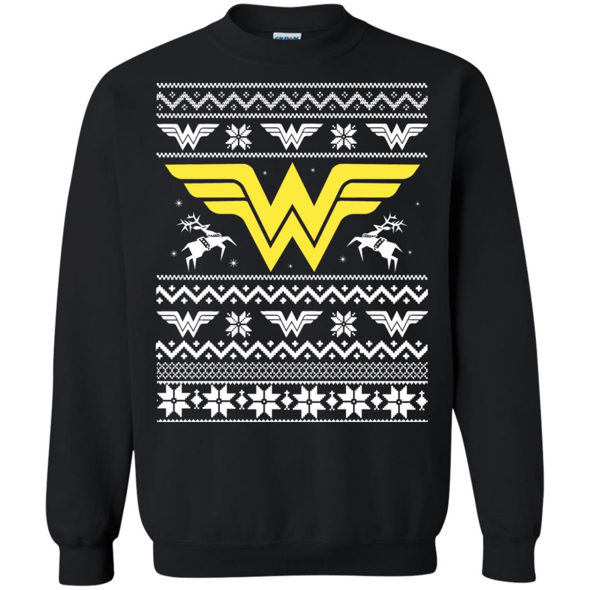 image 1970 - Wonder Woman Christmas Ugly Sweater, Hoodie