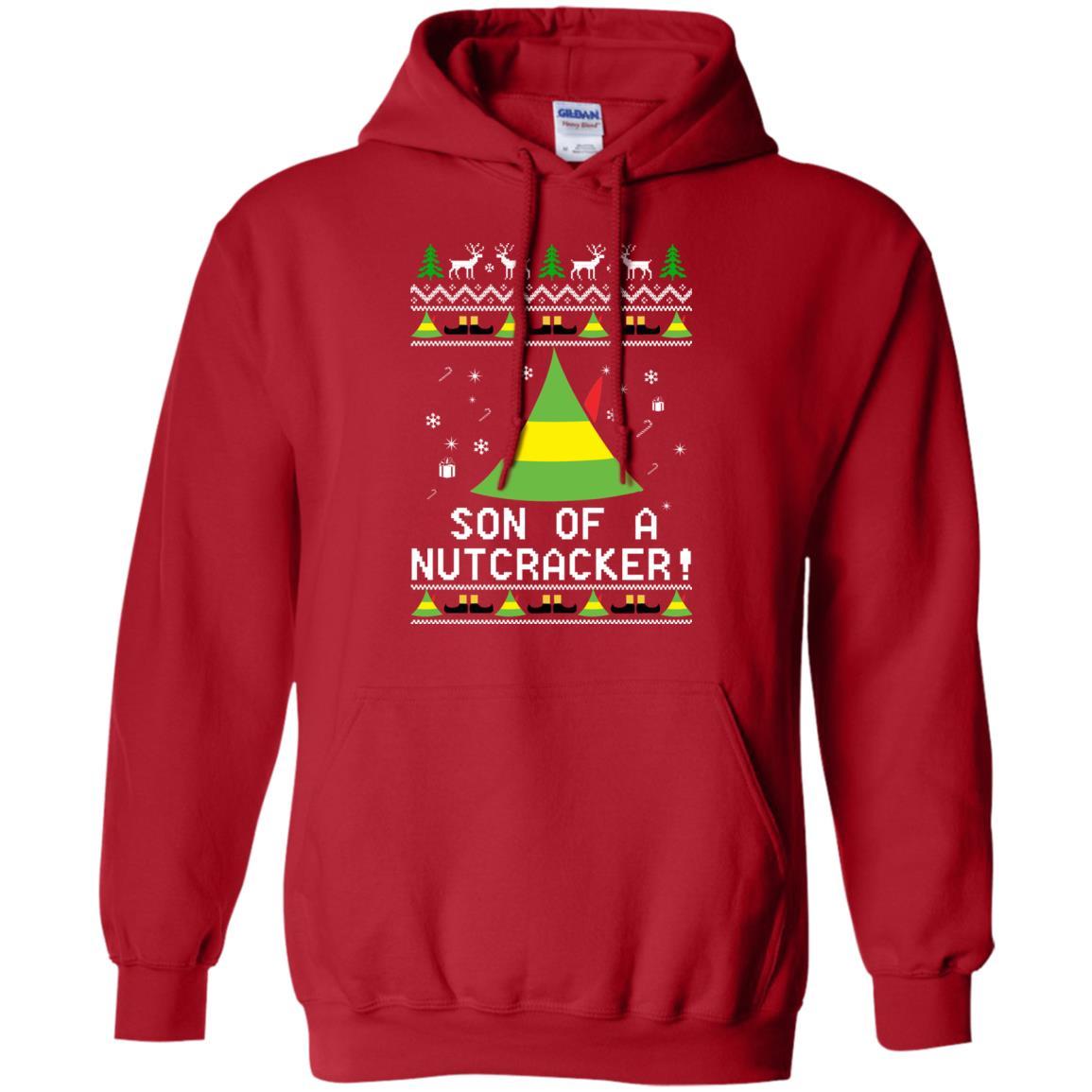 image 1981 - Son of a Nutcracker Elf Christmas Sweatshirt, Ugly Sweater