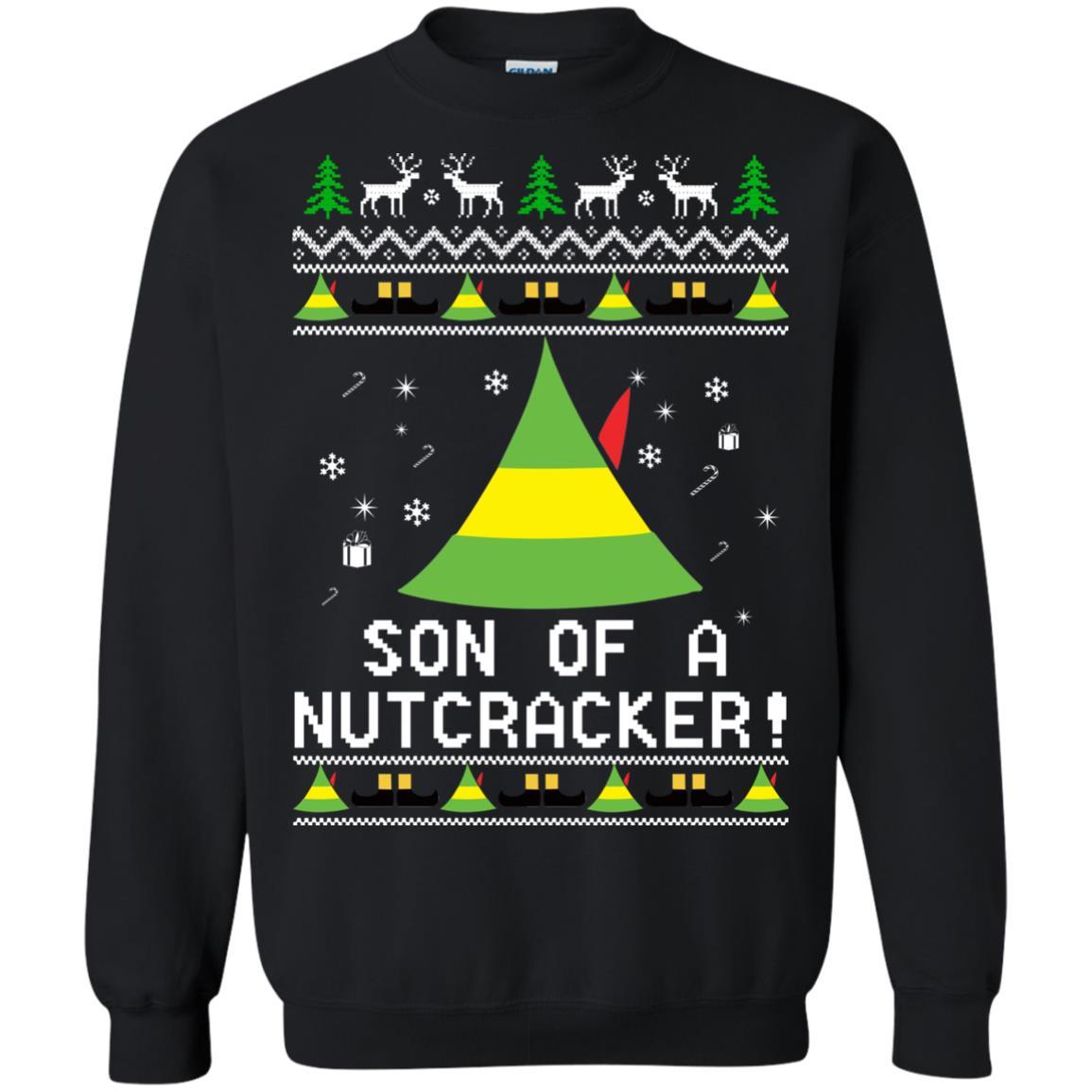image 1982 - Son of a Nutcracker Elf Christmas Sweatshirt, Ugly Sweater