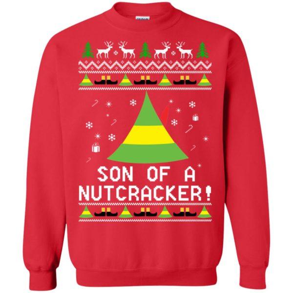 image 1984 600x600 - Son of a Nutcracker Elf Christmas Sweatshirt, Ugly Sweater