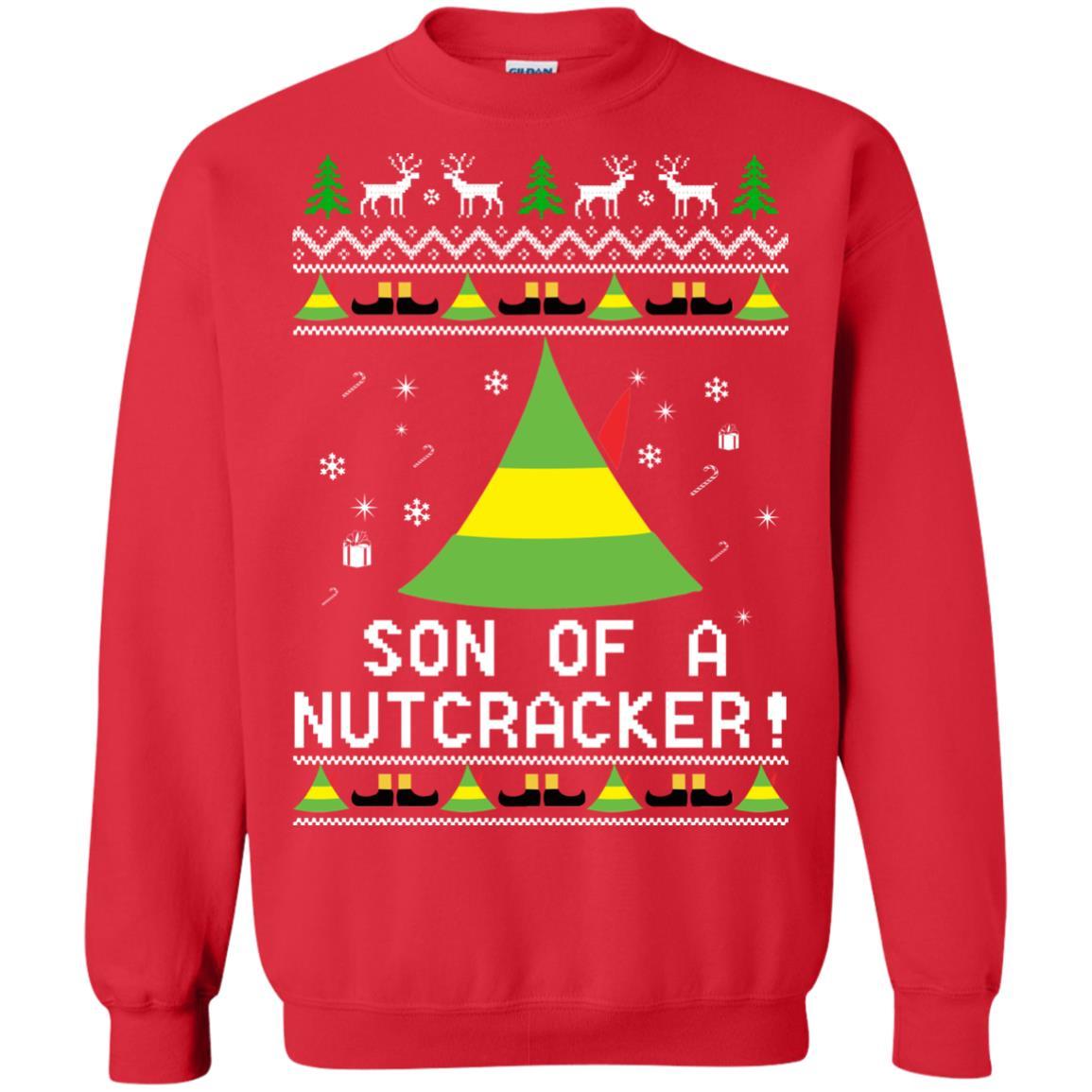 image 1984 - Son of a Nutcracker Elf Christmas Sweatshirt, Ugly Sweater